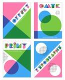 Diseños retros del anáglifo del efecto de la impresión de la compensación libre illustration