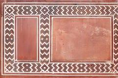Diseños y talla en la puerta de la entrada de Taj Mahal Fotografía de archivo libre de regalías