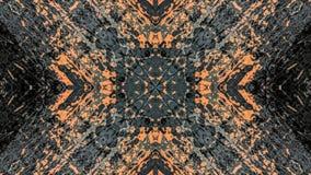 Dise?o abstracto del gris y del grunge rayado anaranjado stock de ilustración