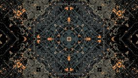 Dise?o abstracto del gris y del grunge rayado anaranjado ilustración del vector