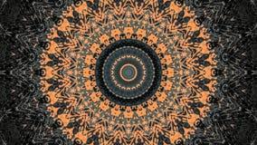 Dise?o abstracto del grunge rayado negro y anaranjado ilustración del vector