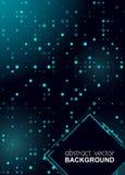 Dise?o azul brillante del Rhombus de semitono que brilla intensamente para el club, partido, invitaci?n de la demostraci?n Fondo  stock de ilustración