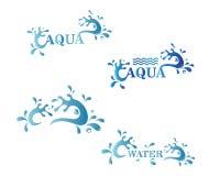 Dise?o del ejemplo del icono del logotipo del chapoteo del agua libre illustration