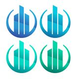 Dise?o del logotipo de la empresa de la construcci?n logotipo plano libre illustration