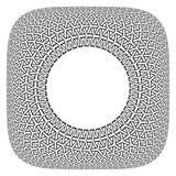 Dise?o del marco Modelo geométrico convexo del círculo en forma cuadrada ilustración del vector