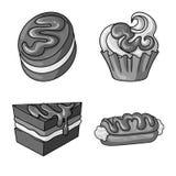 Dise?o del vector de icono del dulce y del caramelo Colecci?n de ejemplo com?n dulce y culinario del vector stock de ilustración