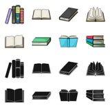 Dise?o del vector de muestra de la biblioteca y del libro de texto Fije del icono del vector de la biblioteca y de la escuela par ilustración del vector