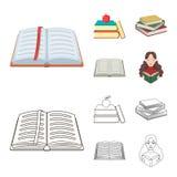 Dise?o del vector de muestra de la biblioteca y del libro de texto Fije del icono del vector de la biblioteca y de la escuela par libre illustration