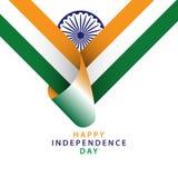Dise?o feliz Illustrator de la plantilla del vector del D?a de la Independencia de la India ilustración del vector