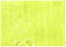 Dise?o superficial Backround verde amarillo de la acuarela del sacador de la cal imágenes de archivo libres de regalías