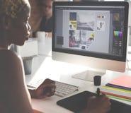 Diseñador Concept de Creativity Editor Ideas del diseñador gráfico Fotos de archivo