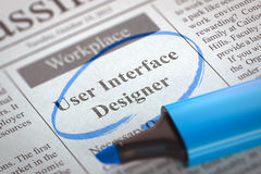 Diseñador de interfaz de usuario Join Our Team 3d Imagenes de archivo