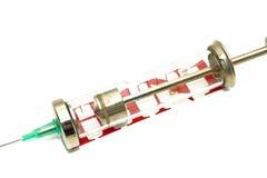 Disease alert - old-fashioned syringe over white Stock Photo