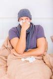 Disease. Having winter disease feeling unwell Stock Photography