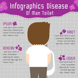 Disease of man toilet infographics. Illustration Stock Image