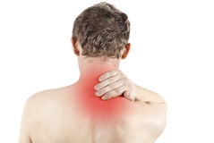 Disease of the neck. Isolated disease of the neck Stock Photo