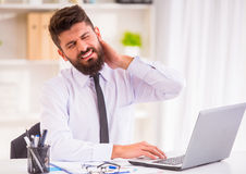 Disease in the office Royalty Free Stock Image