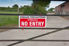 Disease Precautions No Entry Sign Stock Photography