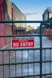 Disease Precautions Strictly No Entry sign Royalty Free Stock Image
