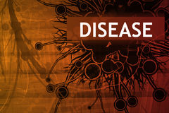 Disease Security Alert. Abstract Background in Red Royalty Free Stock Photo