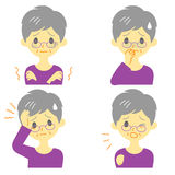 Disease Symptoms 01, old woman Stock Photos