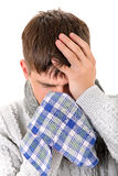Diseased Young Man Stock Images