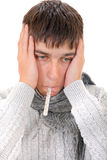 Diseased Young Man Royalty Free Stock Photography