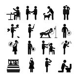 Diseases Transmission Set. Diseases and infection transmission way set with pictogram people isolated vector illustration royalty free illustration