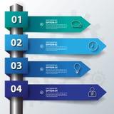 Diseñe las banderas planas /graphic de la flecha de la sombra o el sitio web Vector/EPS Fotografía de archivo