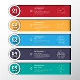 Diseñe las banderas planas /graphic del número de paso de la sombra o el sitio web Vecto Fotografía de archivo libre de regalías