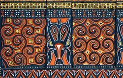 Traditionele ontwerpen in het gebied van Tana Toraja royalty-vrije stock foto