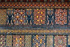 Traditionele ontwerpen in het gebied van Tana Toraja royalty-vrije stock fotografie