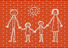 Disegnando sulla parete Fotografia Stock Libera da Diritti