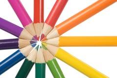 Disegnano a matita il cerchio di colore Fotografie Stock Libere da Diritti