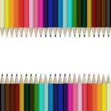 Disegnano a matita il fondo astratto multicolore Illustrazione Vettoriale