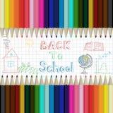 Disegnano a matita il fondo astratto multicolore Illustrazione di Stock