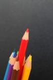 Disegnano a matita il fondo, il fondo di colore, il concetto di istruzione, la scuola 2 Immagini Stock Libere da Diritti