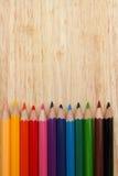 Disegnano a matita il fondo, il fondo di colore, il concetto di istruzione, scuola Fotografie Stock