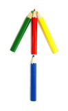Disegnano a matita la freccia Fotografie Stock Libere da Diritti