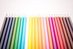 Disegnano a matita tutti i colori Immagini Stock Libere da Diritti