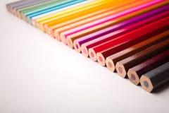 Disegnano a matita tutti i colori Fotografia Stock Libera da Diritti
