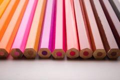 Disegnano a matita tutti i colori Fotografia Stock