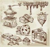 Disegnato a mano - cioccolato Fotografia Stock