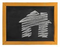 Disegnato a mano della casa Immagini Stock Libere da Diritti