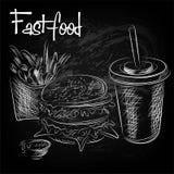Disegnato a mano di alimento orientale Fotografia Stock