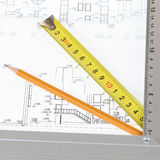Disegni architettonici Immagine Stock