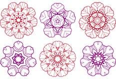 Disegni astratti del fiore Immagine Stock