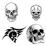 Disegni del cranio illustrazione di stock