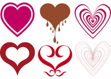 Disegni del cuore Immagine Stock Libera da Diritti