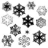 Disegni del fiocco di neve royalty illustrazione gratis